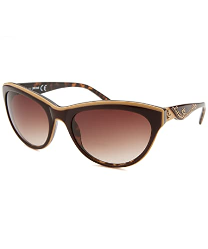 abf8c1a8b3 Image Unavailable. Image not available for. Color  Just Cavalli Women s  JC409S Acetate Sunglasses BROWN 57