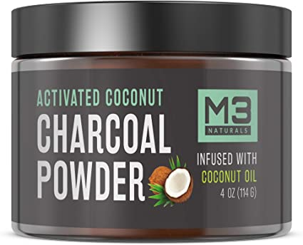 M3 Naturals Activated Charcoal Powder Infused with Coconut Oil
