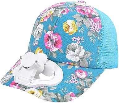Gorra de Beisbol de Verano con Ventilador Carga USB Sombrero de ...