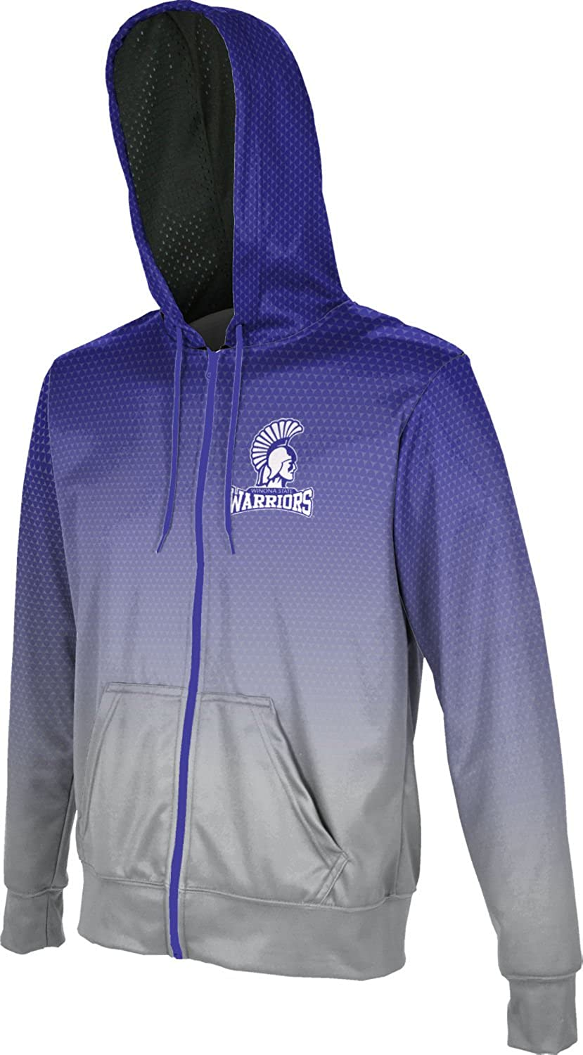 Zoom F7DF3 Large ProSphere Winona State University Mens Full Zip Hoodie Violet and Light Gray