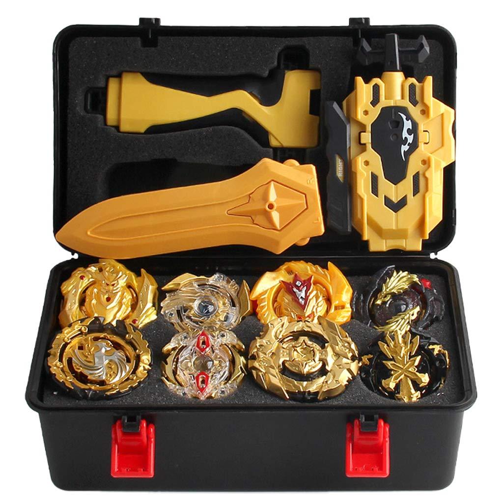 CUTICATE 12Pcs Spinning Tops Burst Grip Launcher Arena Battle Toys Luxury Sets with Storage Case - B129 B34 B127 B00 B131 B59 B128 B48