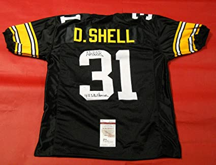 215c5ee3c85 DONNIE SHELL SIGNED PITTSBURGH STEELERS JERSEY JSA INSC at Amazon's ...