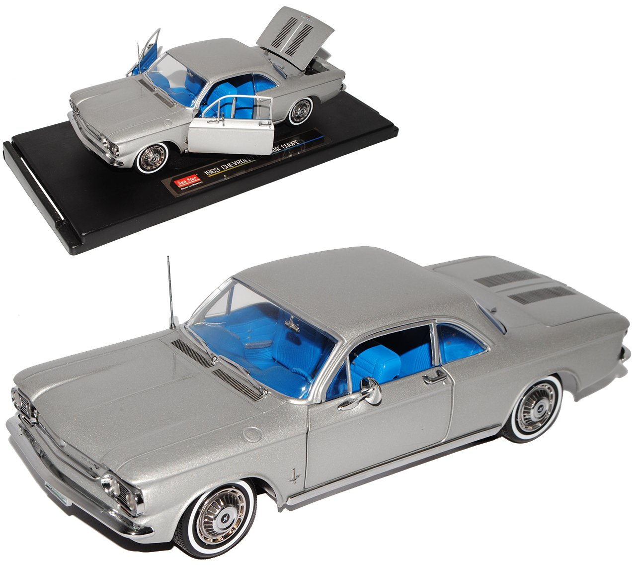 Sun Star Chevrolet Corvair Coupe Silber 1963 1/18 Modell Auto
