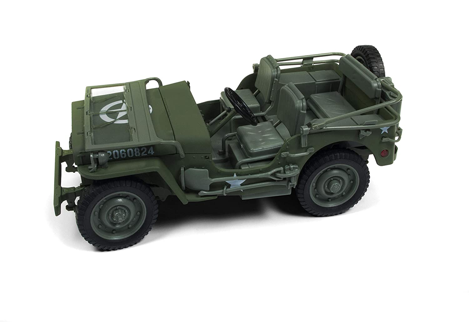 1941 Willys MB Jeep WWII Army Olive Green Drab 1/18 Diecast Model Car by Autoworld AWML001 A B07JHTSQKW