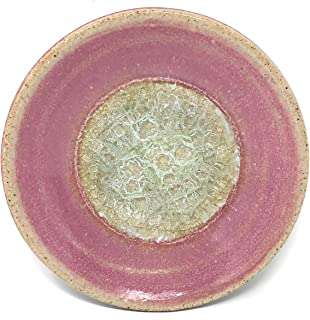 product image for Dock 6 Pottery Small Wasabi/Trinket Dish with Fused Glass, Amethyst
