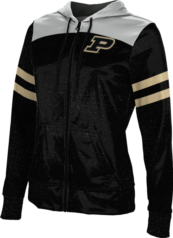 Purdue University Zipper Hoodie - Licensed Collegiate Women's Micro-Poly Fabric Sweatshirt