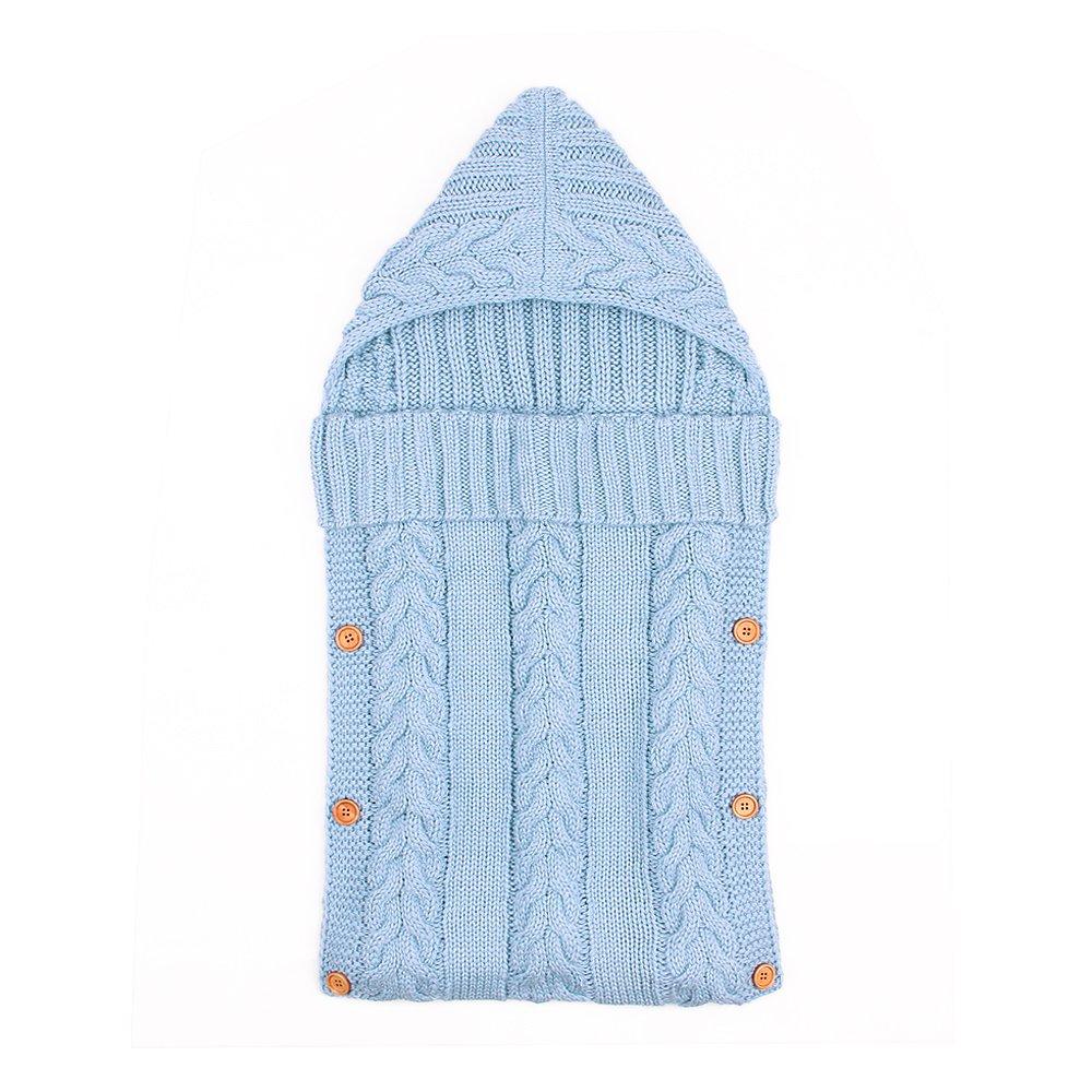 0-12 Months Newborn Baby Wrap Swaddle Blanket Kids Toddler Wool Knit Swaddle Kids Sleeping Bag Sleep Sack Stroller Wrap Sleep Sacks Button 90 Points