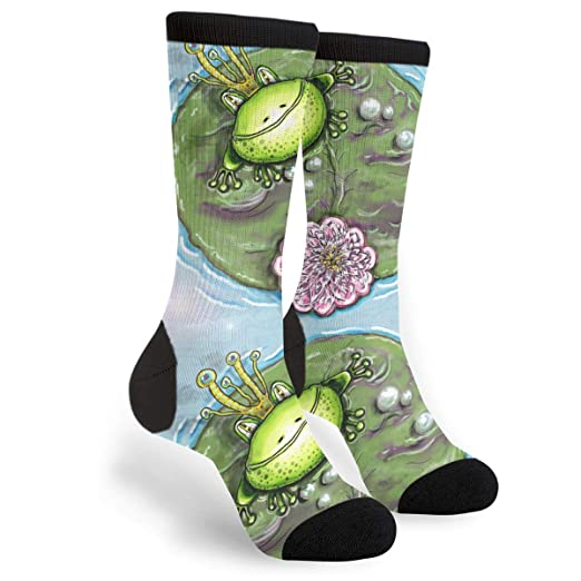 Amazon.com: Prince Blue-Green Frog Of Water Lotus Printed ...