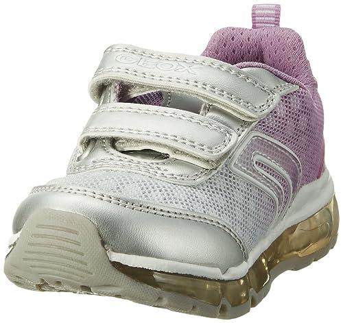Navette Geox B J, Les Chaussures Pour Les Filles, L'argent (argent / Lilas), 25 Eu