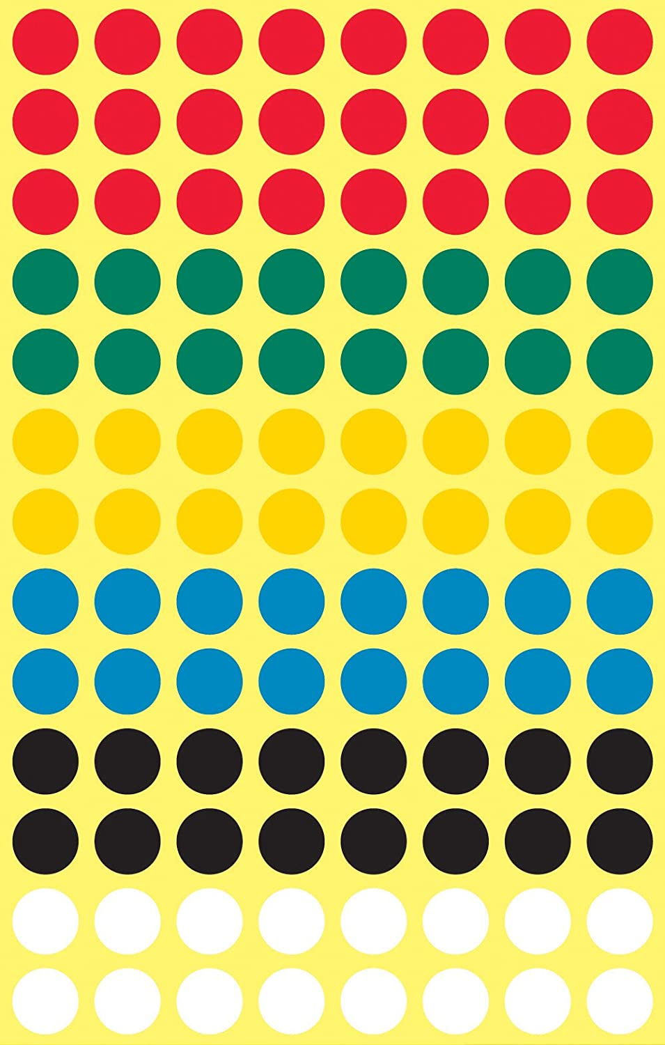 416/Labels Avery Zweckform 3090/Coding Dots 8/mm Diameter 4/Sheets Assorted Colours