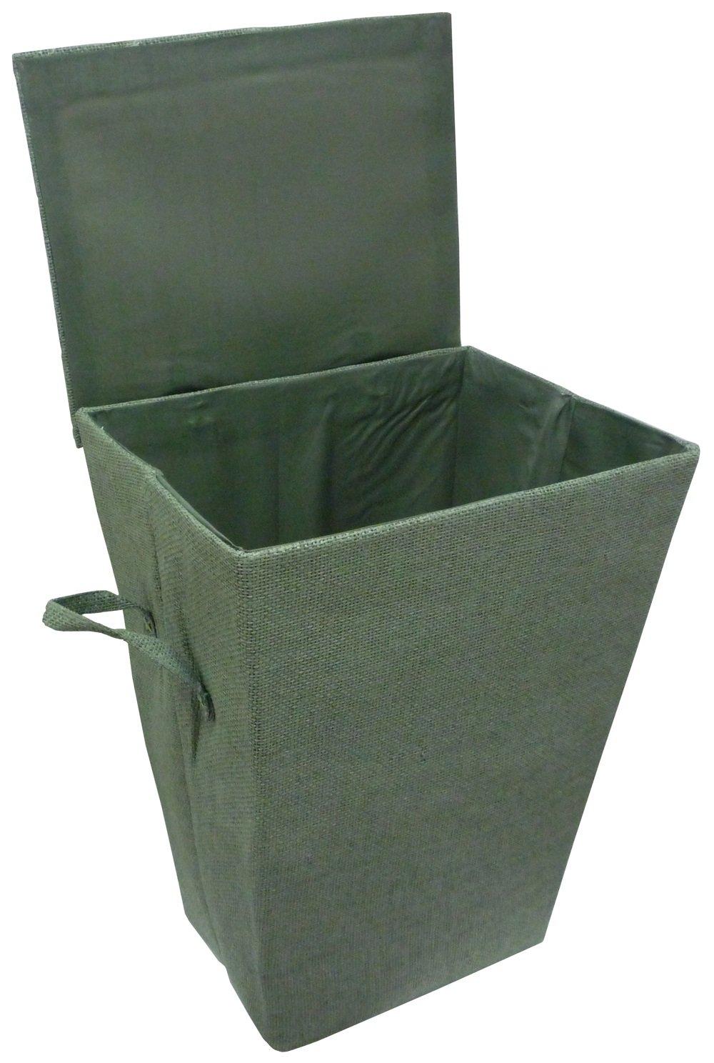 Cesta portabiancheria verde oliva per bagno lavanderia vestiti indumenti Savino Fiorenzo