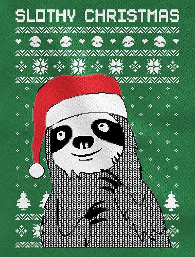 TeeStars Slothy Christmas Ugly Christmas Sweater Sloth Singlet