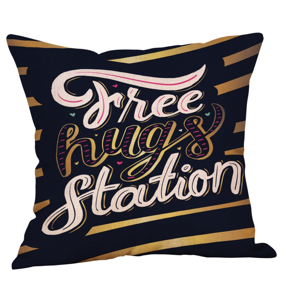 Amazon.com: Throw Pillow Cover, DaySeventh Happy Valentine Pillow Cases Linen Sofa Cushion Cover Home Decor Pillow Case I 18x18 Inch 45x45 cm: Home & ...