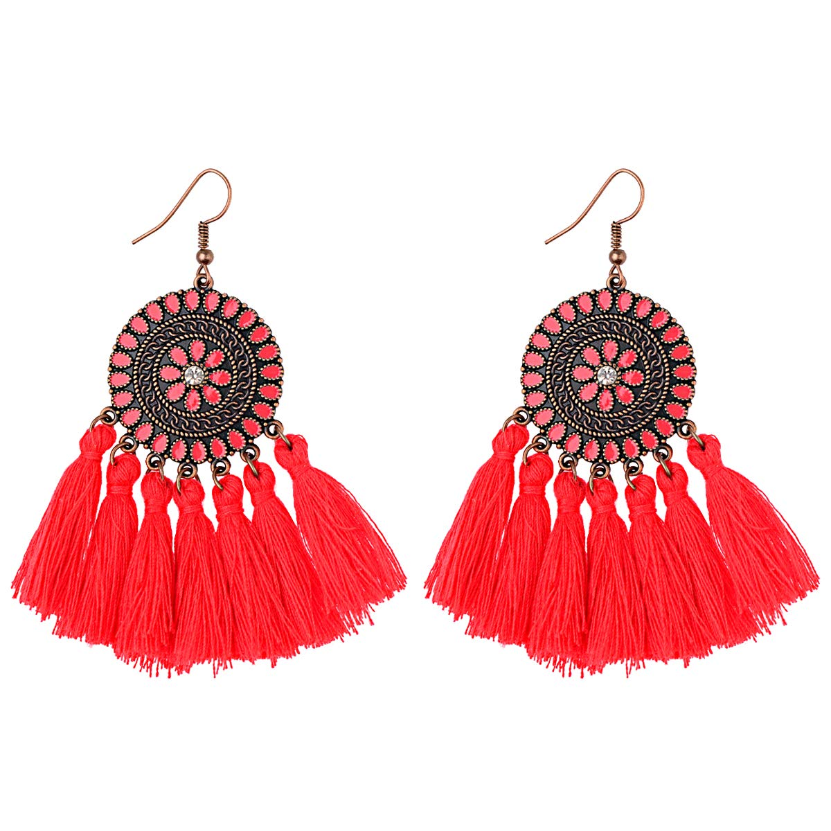 3CTOP 2019 Europe and The United States Retro Bohemian National Earrings Earrings Seaside Holiday Temperament Fashion Personality Tassel Earrings Fairy