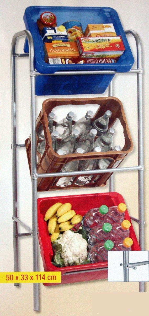 Kastenständer für 3 Kisten Getränkehalter Getränke Kisten Ständer ...