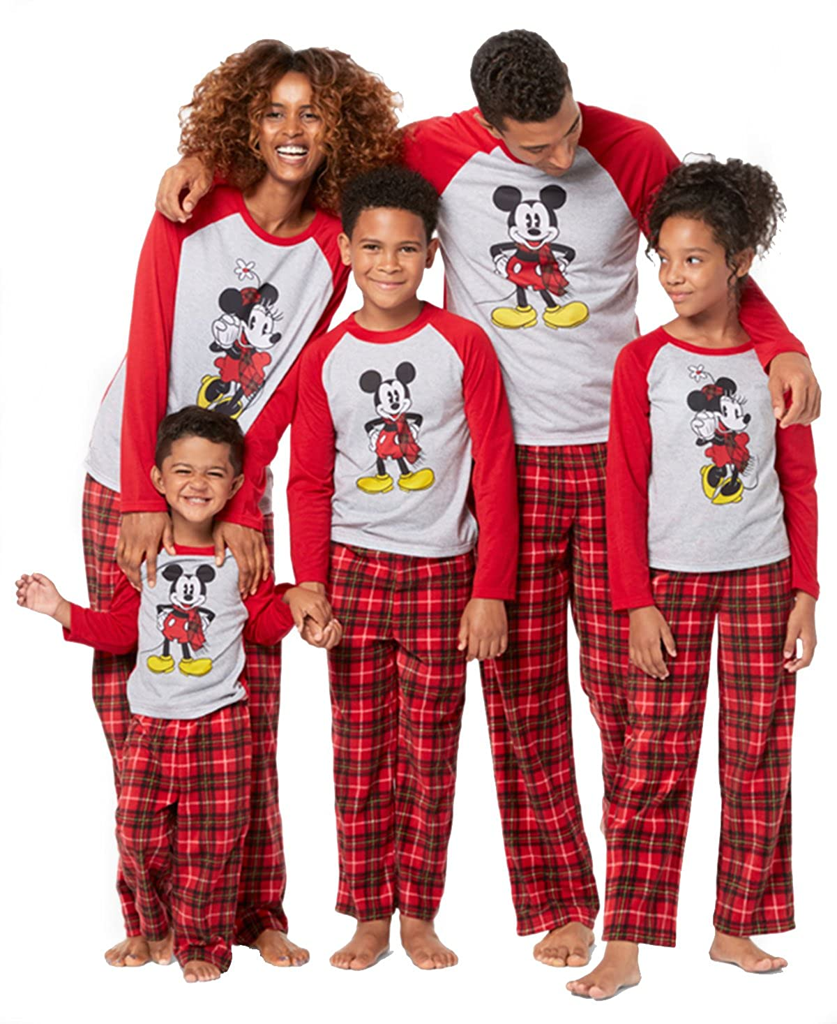 ff3b7939ea41 Mickey and Minnie Mouse Christmas Holiday Family Sleepwear Pajamas ...
