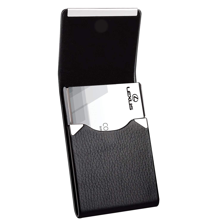 Black PU Leather Wallet Bag Business Card Holder Pocket Case for 20 Credit Cards