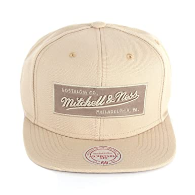 detailed pictures a44fa a89c9 Mitchell   Ness Men Caps   Snapback Cap Box Logo beige Adjustable