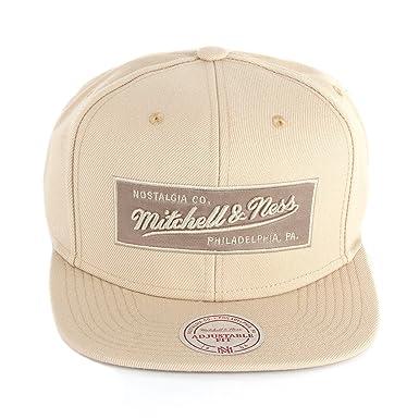 detailed pictures 39d5f ee103 Mitchell   Ness Men Caps   Snapback Cap Box Logo beige Adjustable