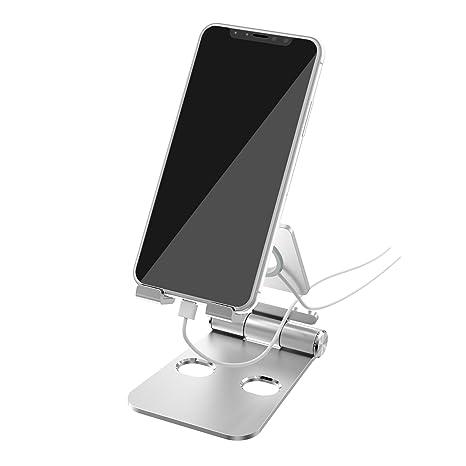 Soporte Móvil, Soporte iPhone, Soporte Dock Base para Teléfono e Smartphones Soporte ajustable del Smartwatch de Smartphone de la tableta de ...