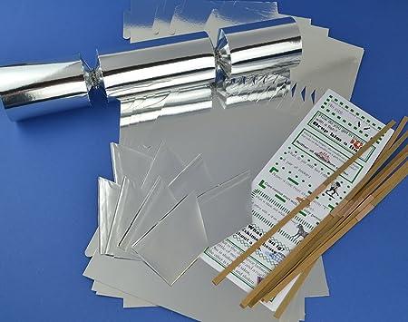 8 jumbo silver foil make fill your own cracker making craft kit 8 jumbo silver foil make fill your own cracker making craft kit solutioingenieria Gallery