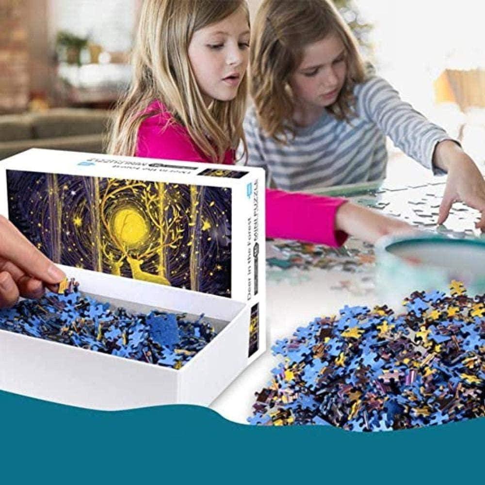 Rompecabezas Adulto Madera Rompecabezas Hierba Tigre 1000 Piezas Ocio Juguetes educativos niños Amigos y Familia( ZYJ075) Color - 1025