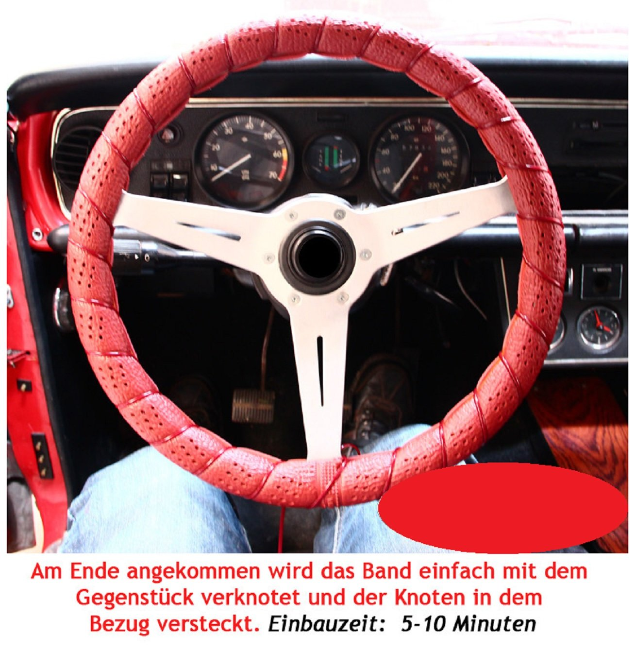2 x  Lenkradbezug-Lenkradschoner zum selber Schn/üren SCHWARZ