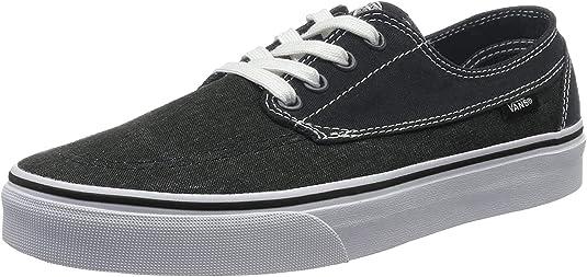 NEW MEN'S VANS Chapman Stripe BlackWhite Canvas Sneaker