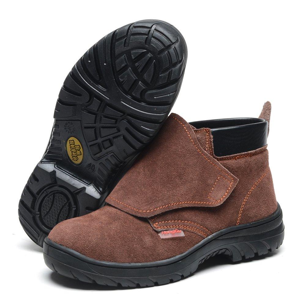 Soldador Soldadura arbeirts Guantes Seguridad Protección Guantes de protección Trabajo Zapatos de seguridad Leather Piel Botas desgaste fijo antipfählung ...