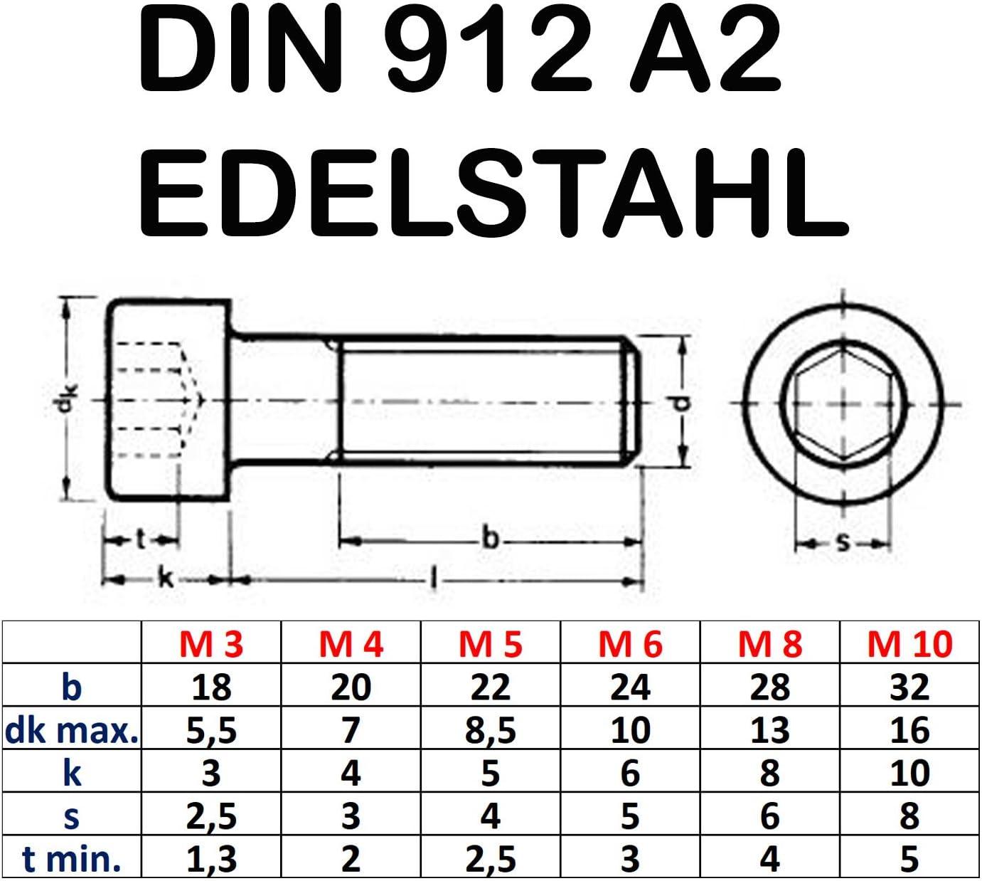200 Inbus Zylinderkopfschrauben DIN 912 8.8 verzinkt M5x35