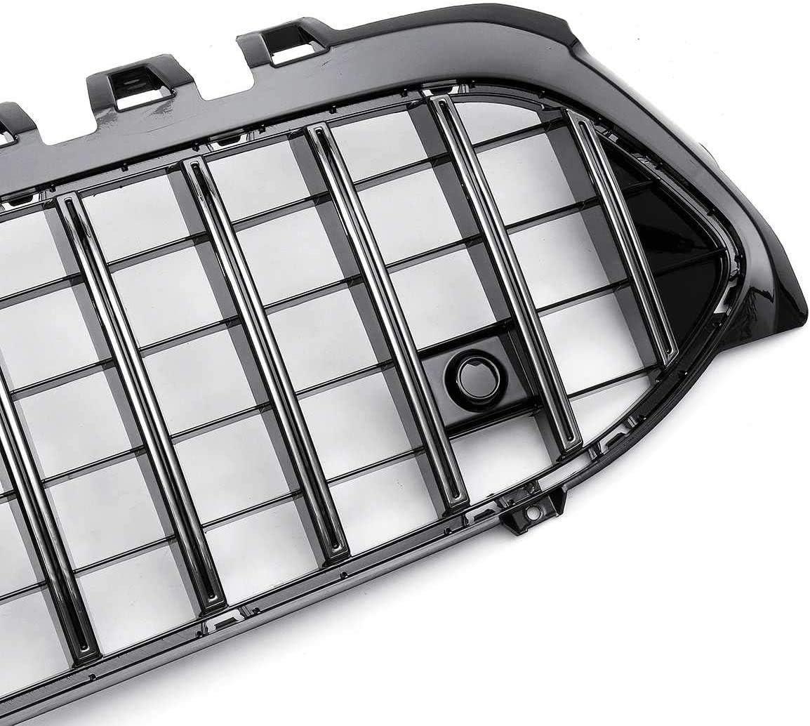 XBXDM 2019 W177 Parrilla Cromada Plateada Estilo GTR Parrilla De Parachoques Delantero De Coche para Mercedes para Benz W177 A250 A200 A45 para Amg 2019