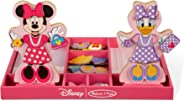 Melissa & Doug Disney Minnie Mouse and Daisy Duck Magnetic Dress-Up Wooden Doll (Pretend Play Set, Display Stands, Great Gift