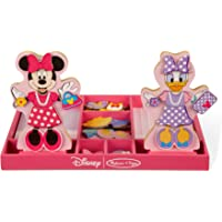 Minnie and Daisy Wooden Magnetic Dress-Up Play Set