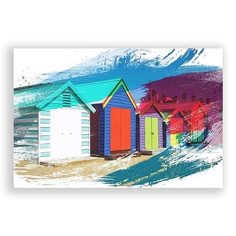 "Arty Pie ""diseño de casetas de Playa en Melbourne Australia 1 V2 Póster Impresión"