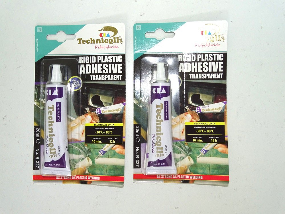 2x STRONG CLEAR ADHESIVE GLUE FOR HARD PLASTIC ABS TR EVA PERSPEX ACRYLIC GLASS NEW Technicqll