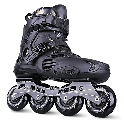 WY Inline Skates for Men Unisex Racing PP Material ABEC-9 Bearing Travel Urban Use Black : Sports & Outdoors