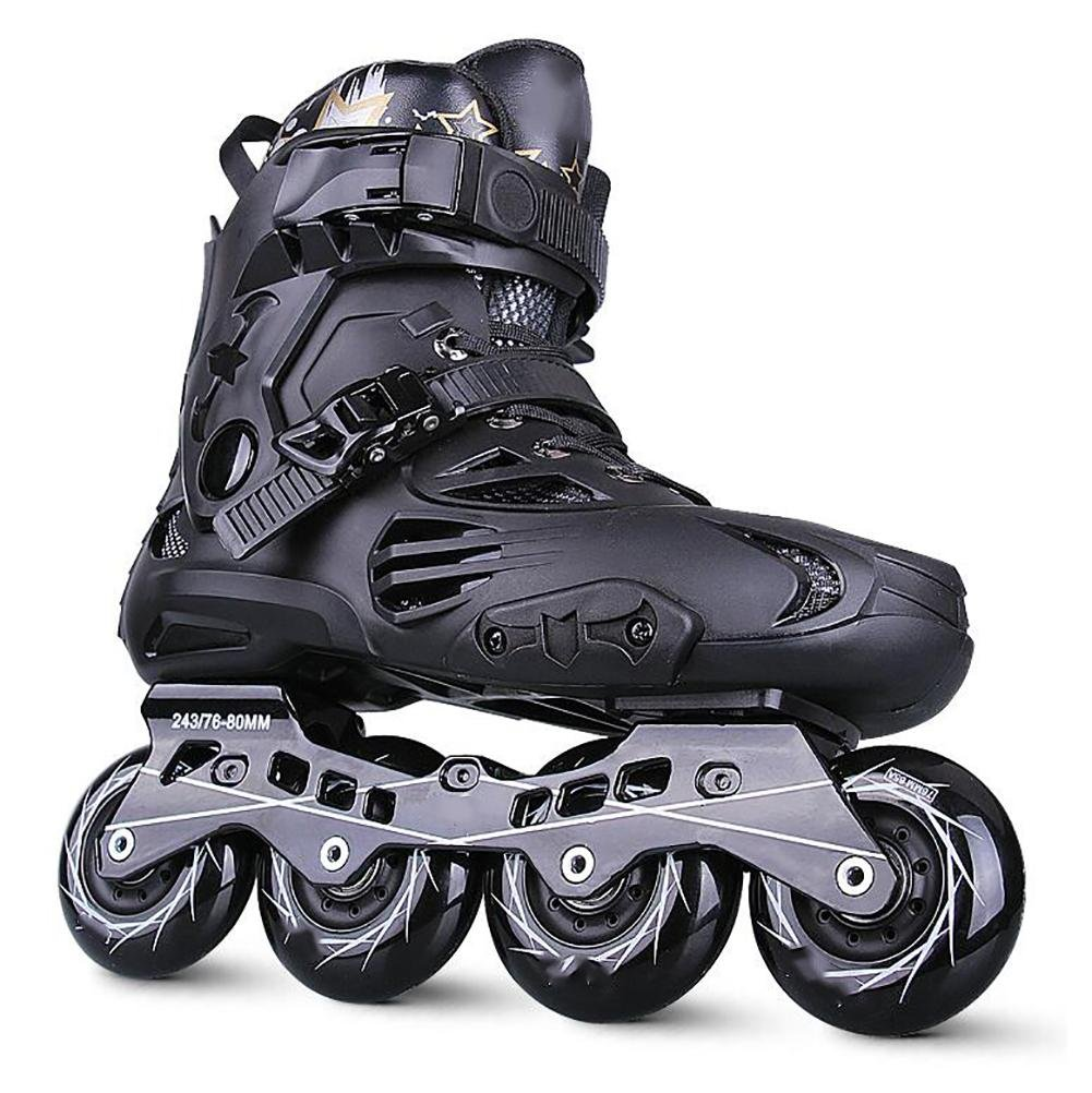 Inline Skates For Men Unisex Racing PP Material ABEC-9 Bearing Travel Urban Use Black , 5 by WY