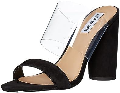 08a503094f89 Steve Madden Women's Cheers Dress Sandal, Black Suede, 8 M US ...