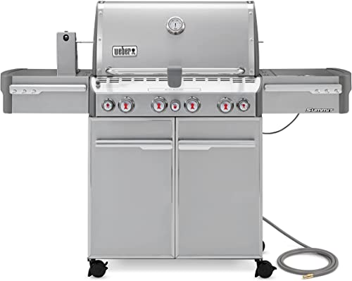 Weber-Summit-7270001-S-470-Stainless-Steel-580-Square-Inch-48,800-BTU-Natural-Gas-Grill