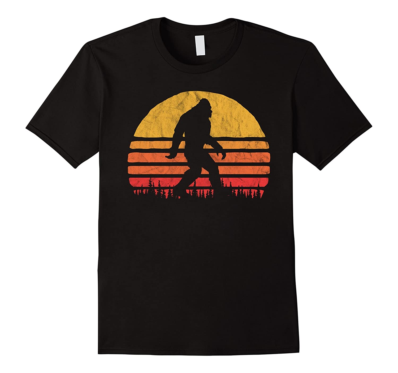 Retro Bigfoot Silhouette Sun T-Shirt - Believe!-fa