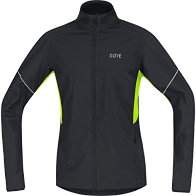 96853a7f GORE Wear R3 Men's Jacket, Partial GORE WINDSTOPPER, S, Black/Neon Yellow