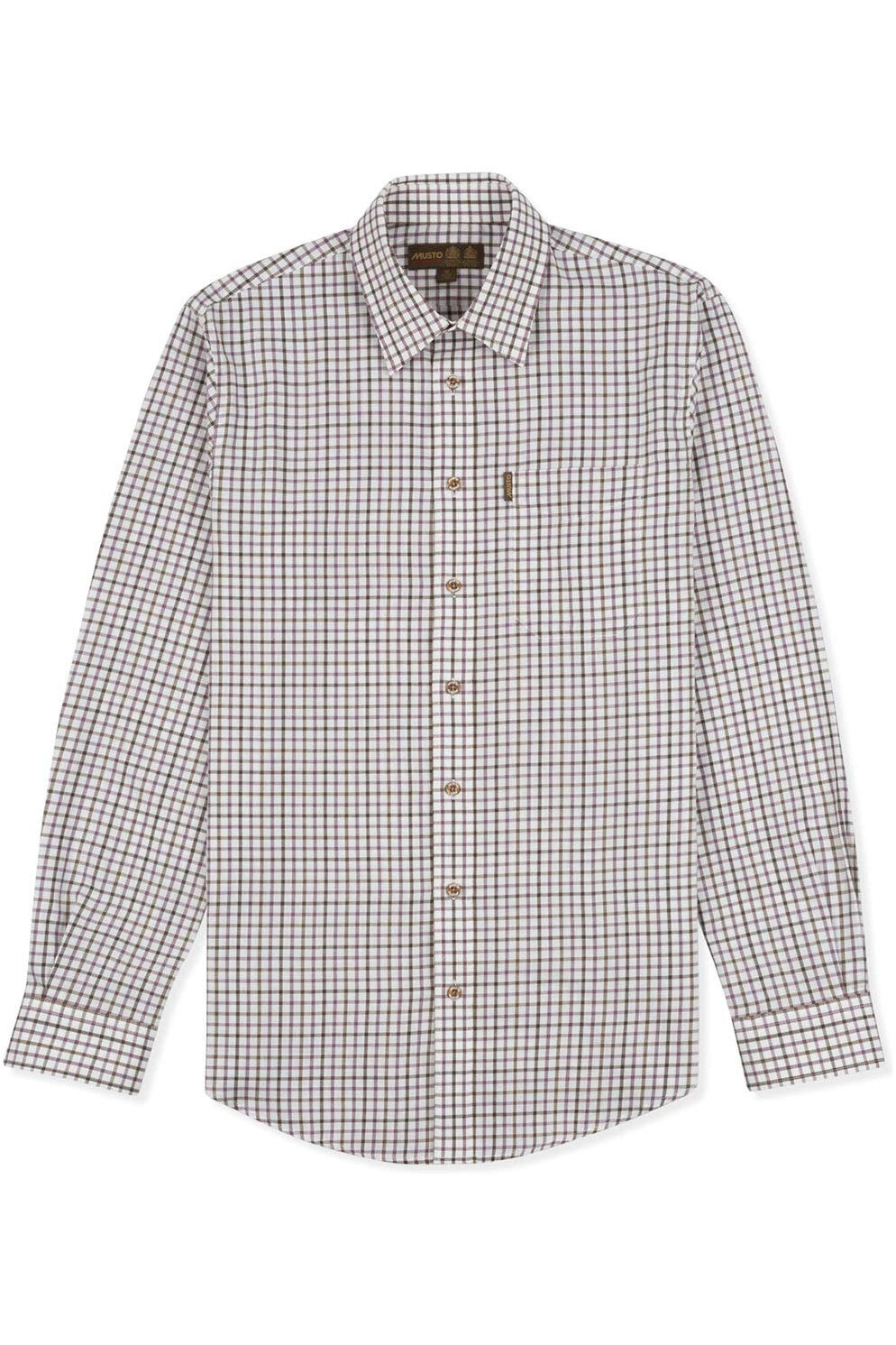 Musto Camisa de Sarga clásica para Hombre Cairngorms Berry: Amazon ...