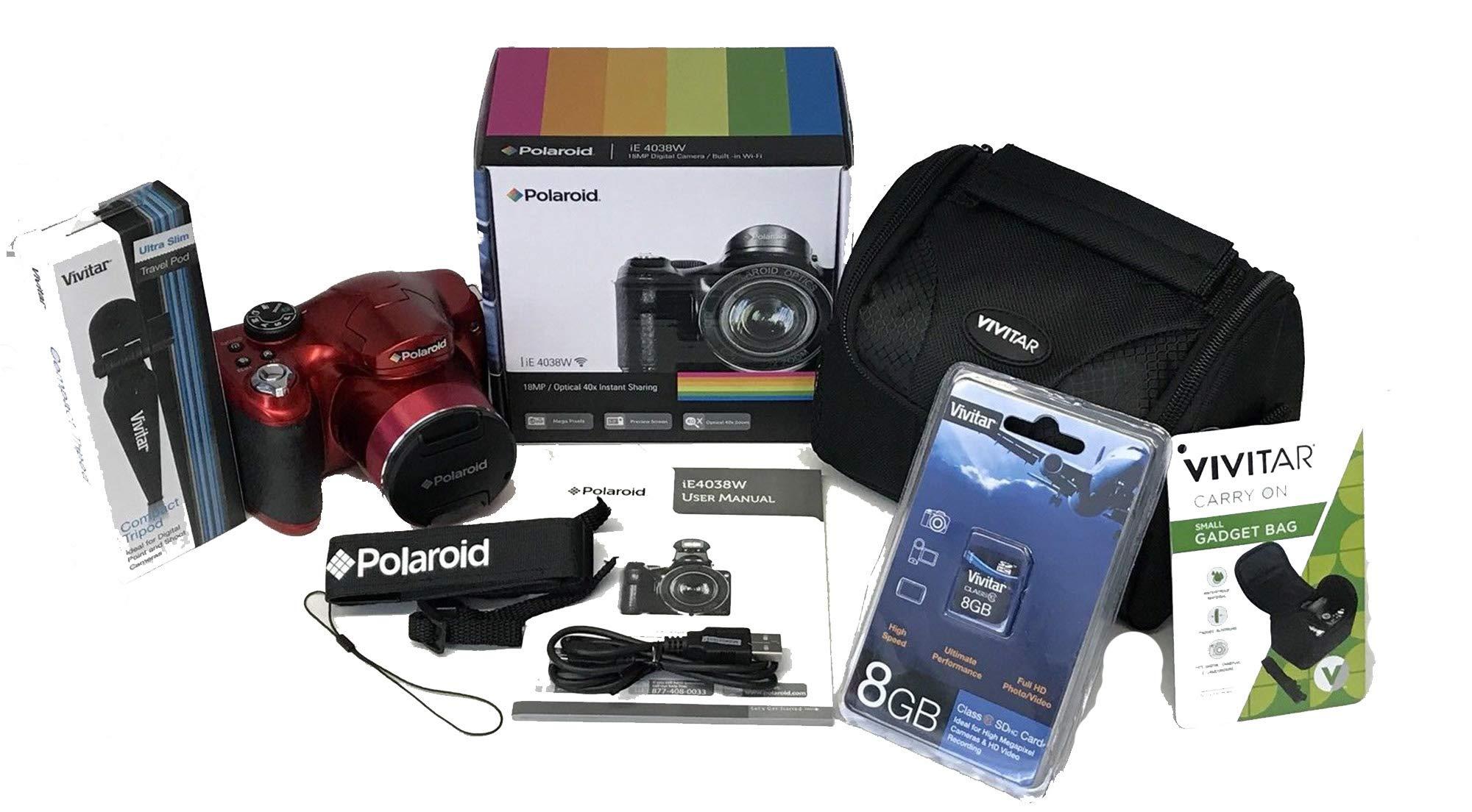 Polaroid iE 4038W 18MP / Optical 40x Instant Sharing Digital Camera,Bundle,Red by Polaroid