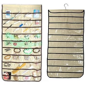 Amazoncom Charminer 80 Pocket Jewelry Hanging Storage Organizer