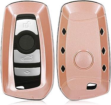 kwmobile Cover Chiave Auto BMW Custodia per Chiave Controllo remoto BMW con 3 Tasti Solo Keyless Go Guscio Protettivo coprichiave in Morbido Silicone TPU