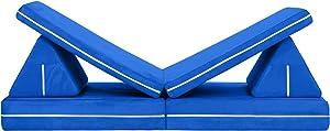 Jaxx Zipline Playscape Imaginative Furniture Playset for Creative Kids, Blueberry