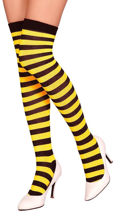 Medias a rayas Kraut Wear®, por encima de las rodillas, ideales para disfraces