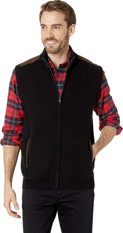 Chaps Mens Cotton-Zip Sweater Vest