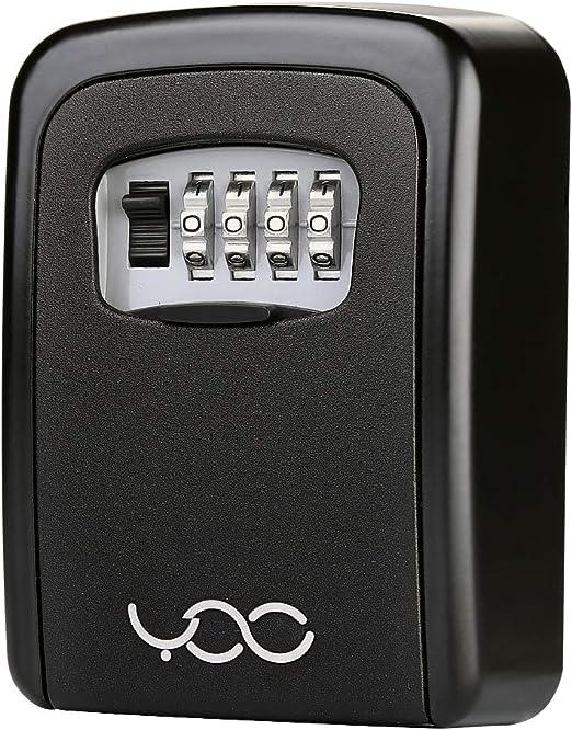 Organizador de montaje en pared de combinaci/ón de caja de bloqueo de almacenamiento de seguridad de llave de 4 d/ígitos