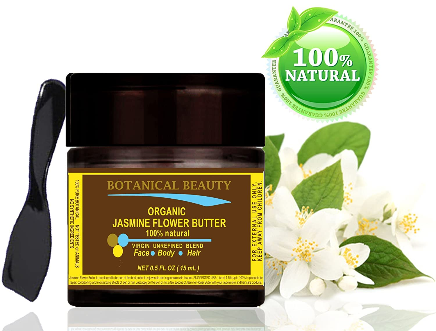 Amazon jasmine flower butter organic 100 natural 100 pure amazon jasmine flower butter organic 100 natural 100 pure botanicals virgin unrefined blend cold pressed 05 oz 15 ml for skin hair and izmirmasajfo